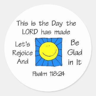This is the Day - Sun Round Sticker