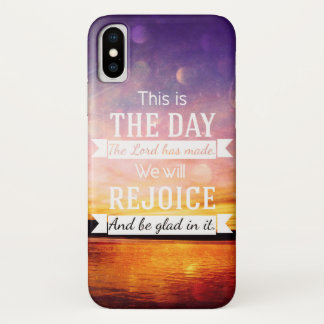 This is the day the lord has made... iPhone x case
