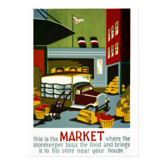 This is the Market Postcard