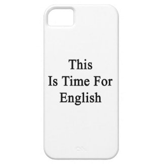 This Is Time For English iPhone 5/5S Cover