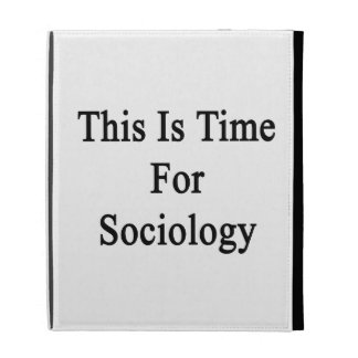 This Is Time For Sociology iPad Cases
