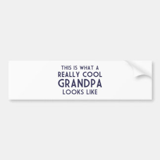 This is What a Really Cool Grandpa Looks Like Bumper Sticker