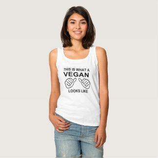 This Is What A Vegan Looks Like humor Funny Singlet