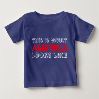 This is What America Looks Like Baby Tee