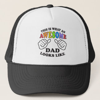 This Is What An Awesome Gay Dad Looks Like Trucker Hat
