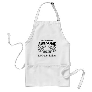 This is what an awesome Muay Thai Fighter looks li Standard Apron