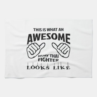 This is what an awesome Muay Thai Fighter looks li Tea Towels