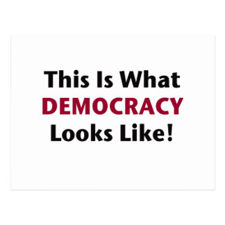 This is What Democracy Looks Like! Postcard