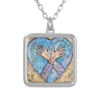 This is who I am Silver Plated Necklace