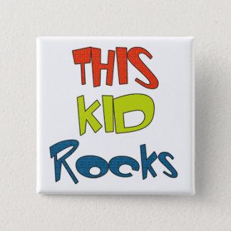 This Kid Rocks Tshirts and Gifts 15 Cm Square Badge
