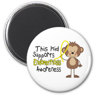 This Kid Supports Endometriosis Awareness Refrigerator Magnet