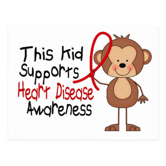 This Kid Supports Heart Disease Awareness Postcard
