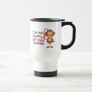 This Kid Supports Heart Disease Awareness Stainless Steel Travel Mug