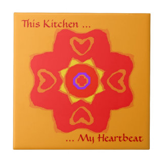 This Kitchen-The Heartbeat. Small Square Tile