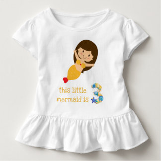 This Little Mermaid is 3 Toddler T-Shirt