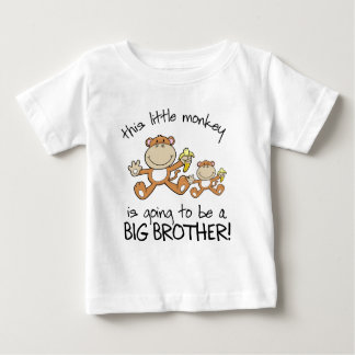 this little monkey big brother tees