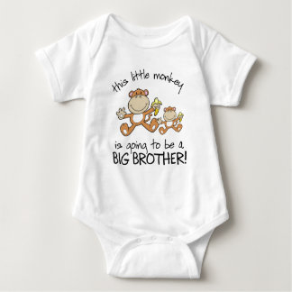 this little monkey big brother shirts