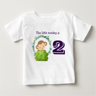 This Little Monkey Cute Safari Birthday Baby T-Shirt
