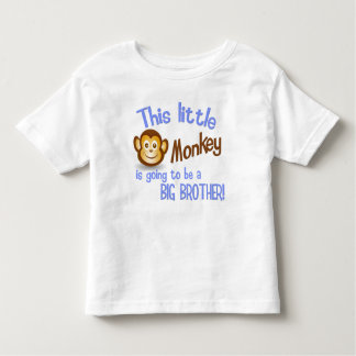 This Little Monkey is going to be a BIG BROTHER! Toddler T-Shirt