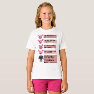 """This Little Piggy"" Parody, Girls Teeshirt. T-Shirt"
