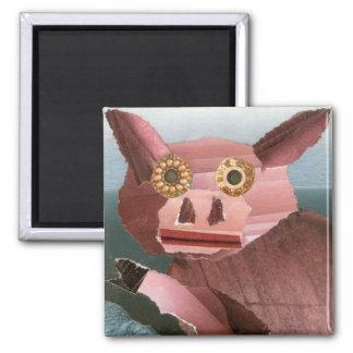 This Little Piggy Square Magnet