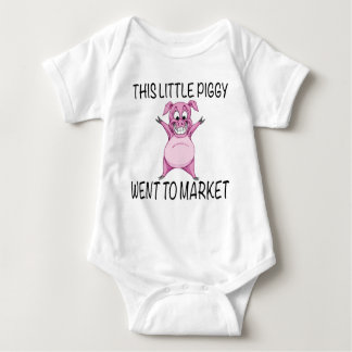 This Little Piggy Went To Market. Baby Bodysuit