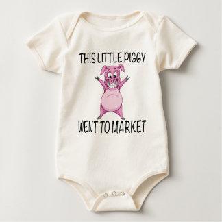 This Little Piggy Went To Market. Baby Bodysuit