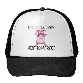 This Little Piggy Went To Market. Cap