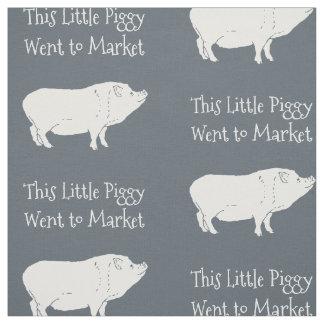 This Little Piggy Went to Market Custom Fabric
