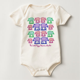This Little Piggy Went to Market, Stayed Home Baby Bodysuit