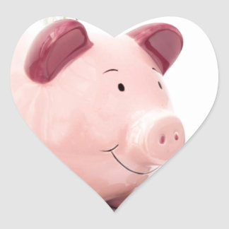 this little piggy went to the bank heart sticker