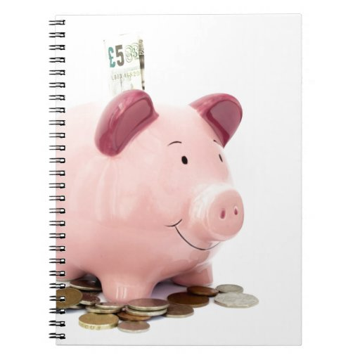 this little piggy went to the bank spiral note books