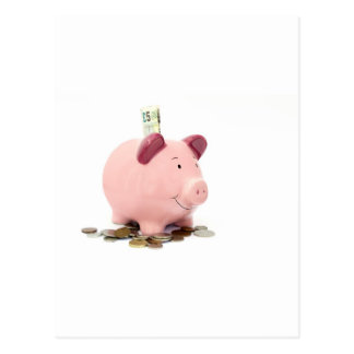this little piggy went to the bank postcard