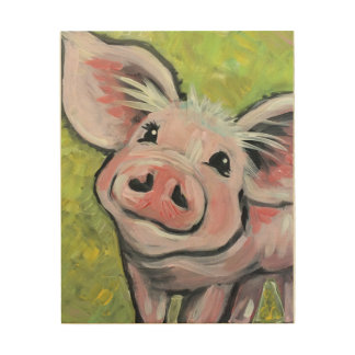 This Little Piggy Wood Panel Art