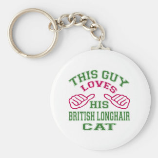 This Loves His British Longhair Cat Keychains