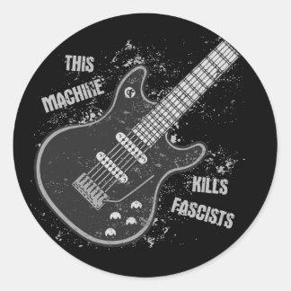 This Machine Classic Round Sticker