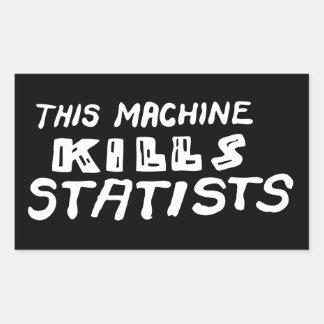 This Machine Kills Statists Rectangular Sticker