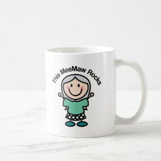 This Meemaw Rocks Gift Idea Coffee Mug