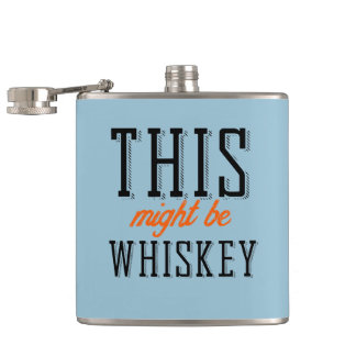 This might be whiskey hip flask