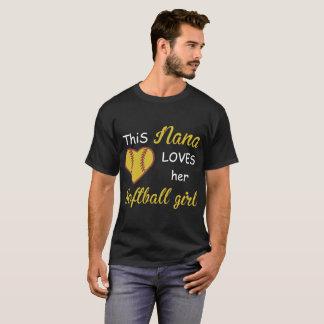 this nana loves her softball girl friends t-shirts