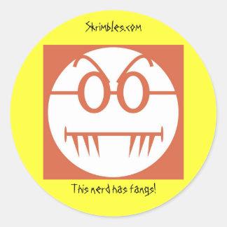 This nerd has fangs! sticker