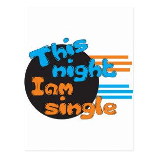 This Night I am Single Postcard