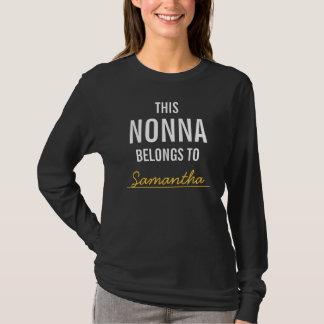 This Nonna Belongs To ........ T-Shirt