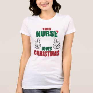 This Nurse Loves Christmas! T-Shirt