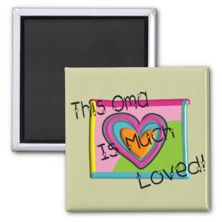 This OMA Much LOVED Magnet