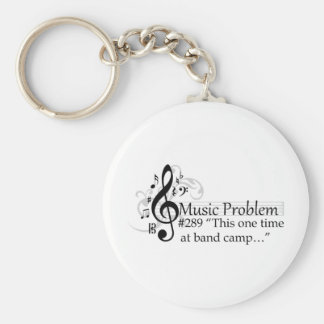 """This one time at band camp…"" Basic Round Button Key Ring"