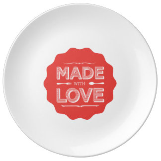 This plate is made with love!