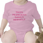 This Princess Saves Herself Baby Bodysuits