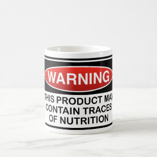THIS PRODUCT MAY CONTAIN TRACES OF NUTRITION COFFEE MUG
