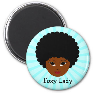 This sassy vixen is too much woman for you 6 cm round magnet
